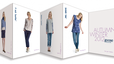 Goose Look Book – multi-fold leaflet