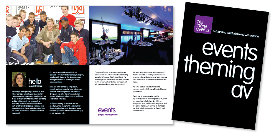 Out There Events Brochure